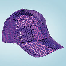 Purple Sequined Glamour Cap