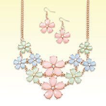 Pastel Flowers Jewelry Set