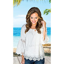 Romantic Lace Peasant Top