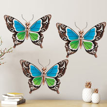 Metal & Glass Butterfly Wall Decor