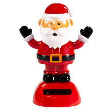 Solar Waving Santa/Black Gloves