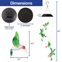 Solar Hummingbird Windchime