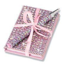 Pink Bling Bejeweled Notebook & Pen Set