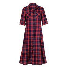 Plaid Button-Up Dress