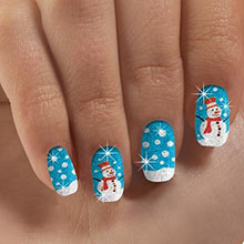 Snowman Nail Appliqués