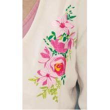 Embroidered Fleece Bed Jacket