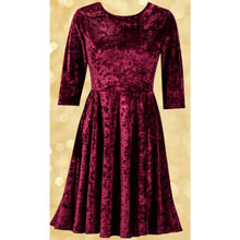 Crushed Velour Ballet Dress