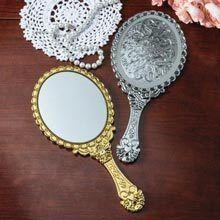 Gold Victorian Hand Mirror