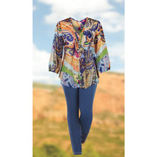 Colorful Pintuck Blouse