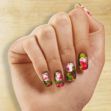 Rose Bouquet Nail Appliqu&egraves