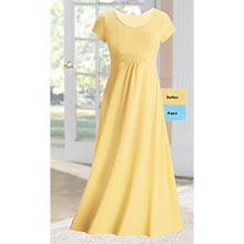 Full & Flowy Comfort Dress  - Butter