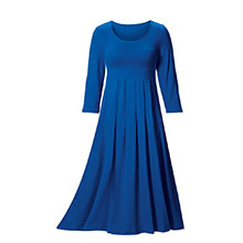 Long Easy-Fit Pleated Dress