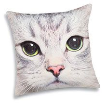 Sophisti-Cat Pillow Cover - White Cat