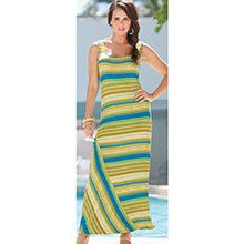 Green Striped Maxi Dress