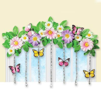 Spring Flower Swag