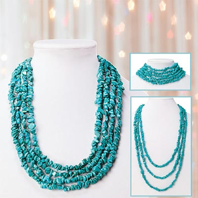 Timeless Turquoise Chip Necklace
