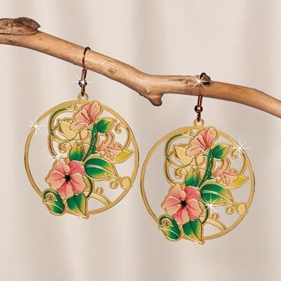 Floral Cutwork Earrings