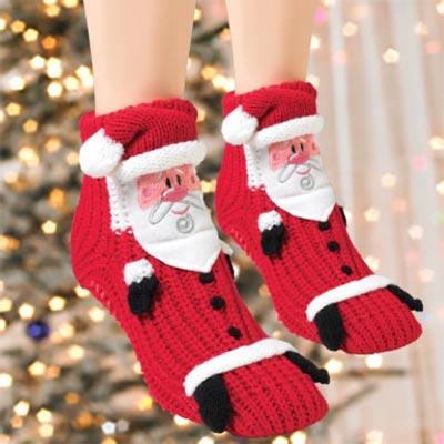 Santa Slipper Socks