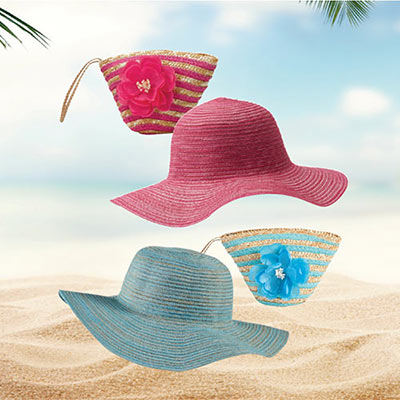 Ultra Cool Foldable Hat with Wristlet