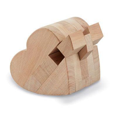 Wooden Heart 3-D Puzzle