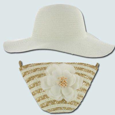 White Sun Lily Hat & Wristlet Set