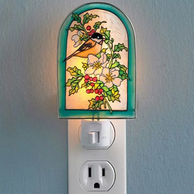 Chickadee Blooms Nightlight