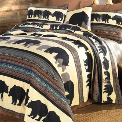 Walking Bear Fleece Pillow Sham
