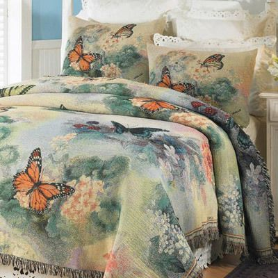 Butterfly Tapestry Coverlet & Accessories