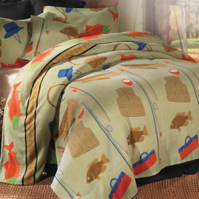 Fishing Retreat Lightweight Polar Fleece Bedding