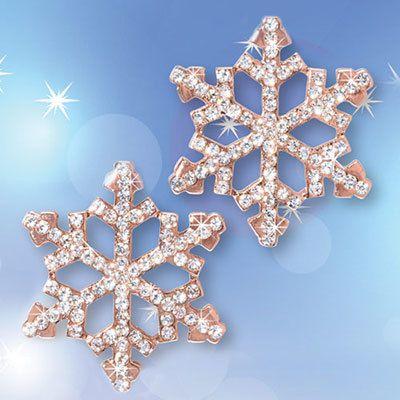 Sparkling Snowflake Earrings