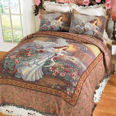 Angel of Love Tapestry Coverlet & Accessory