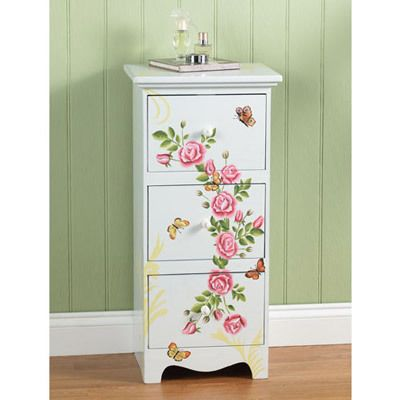 Butterflies & English Roses Cabinet
