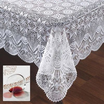 Starburst Faux Crochet Tablecloth