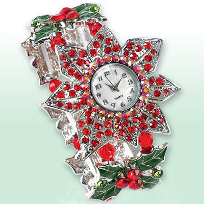 Poinsettia Crystal Watch