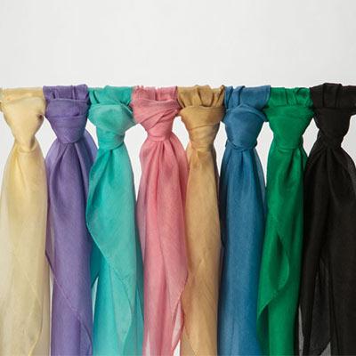 Solid Color Silk Scarves