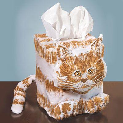 Cat Tissue Box Cover