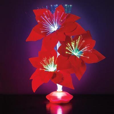Poinsettia Fiber Optic Flower