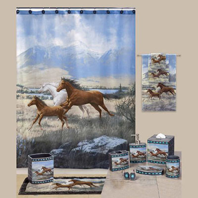 Running Horses Bath Accessories