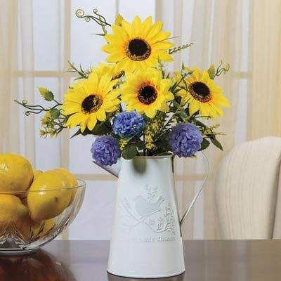 Sunflower in Pitcher Arrangement