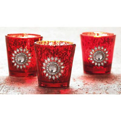 Bejeweled Tealight Holders