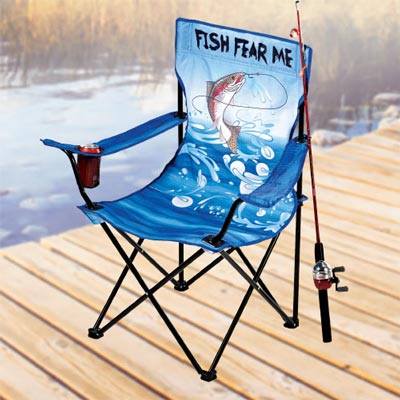 Fish Fear Me Folding Chair