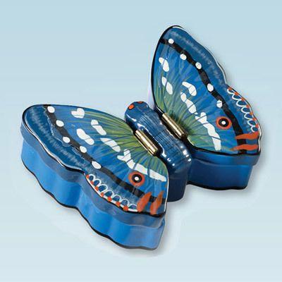 Butterfly Double Trinket Box