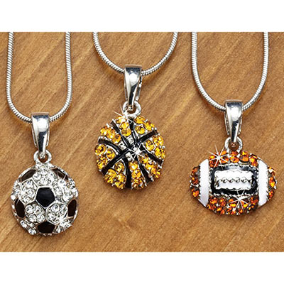 Rhinestone Sports Necklace