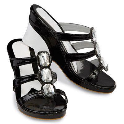 Black & Bling Sandals