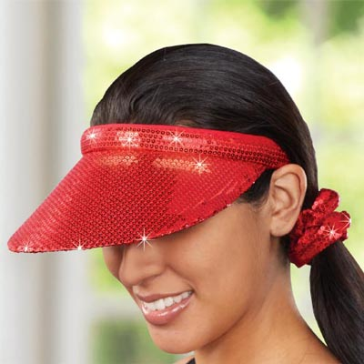 Sequined Visor & Scrunchie Set