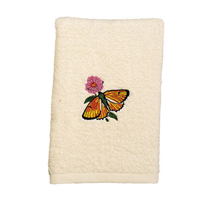 Embroidered Butterfly Bouquet - Bath Towel