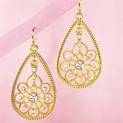 Bejeweled Filigree Earrings