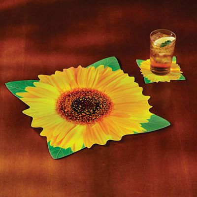 Sunflower Placemat & Coaster Set