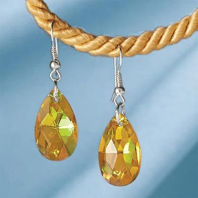 Golden Mystical Pendant Earrings