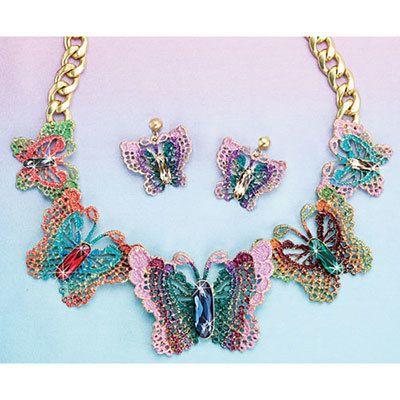 Beautiful Butterflies Jewelry Set